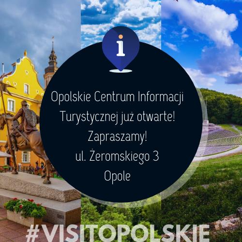 Opolskie Centrum Informacji Turystycznej już otwarte! ul. Żeromskiego 3 Opole.png